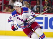 The New York Rangers re-signed Jimmy Vesey.