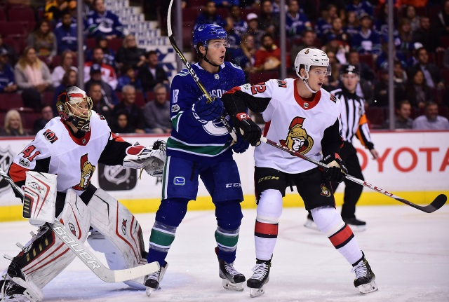 Could Logan Brown hit the trade market? Oilers could sign Dylan Holloway after college season. Canucks looking for a young forward for Jake Virtanen.