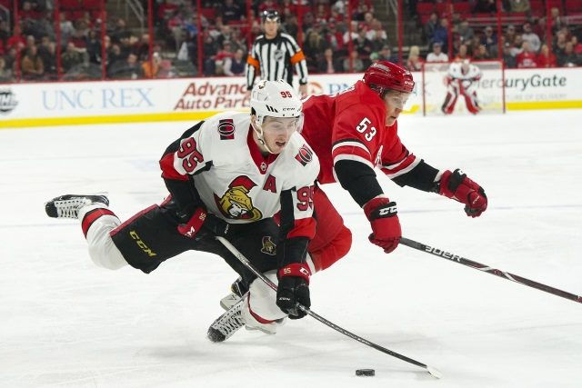 Hard to see the Ottawa Senators wanting to trade Matt Duchene right now. The Carolina Hurricanes did the right thing to trade Jeff Skinner this offseason if they didn't want to keep him.