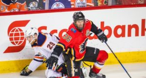The Calgary Flames put Troy Brouwer on unconditional waivers for the purpose of buying out his contract.