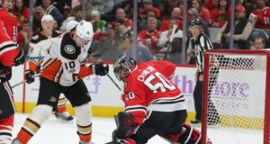 NHL injuries: Corey Perry suffers a lower-body injury. Corey Crawford getting closer to practicing.