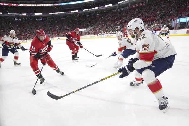 Two Eastern Conference teams that could jump into a playoff spot this year are the Carolina Hurricanes and Florida Panthers