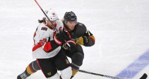 Ottawa Senators defenseman Erik Karlsson and Vegas Golden Knights forward William Karlsson