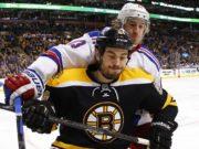 The Boston Bruins have traded defenseman Adam McQuaid to the New York Rangers for Steven Kampfer and draft picks.