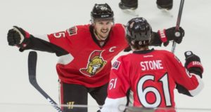 The Ottawa Senators sensed Erik Karlsson didn't want to re-sign. Mark Stone shoots down a report that he wants to be traded.