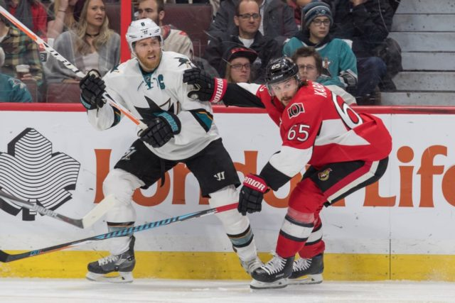 The Ottawa Senators have traded defenseman Erik Karlsson to the San Jose Sharks