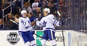 Toronto Maple Leafs William Nylander and Mitch Marner