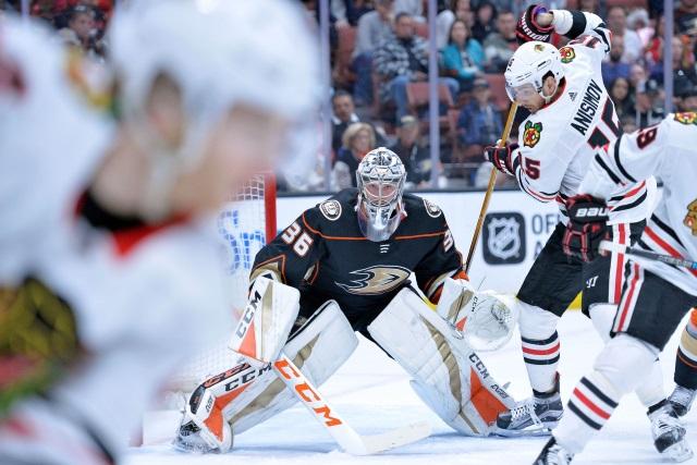 The Anaheim Ducks are struggling at even strength. Chicago Blackhawks defenseman Henri Jokiharju opening eyes with his play so far.
