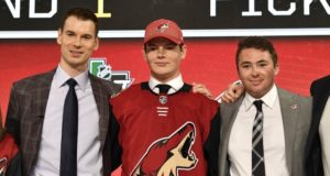 Barrett Hayton makes the Arizona Coyotes opening day roster.