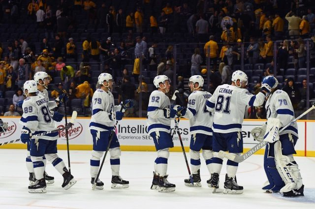 The Tampa Bay Lightning sit a top our first consensus NHL power rankings of the season.