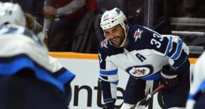 Winnipeg Jets defenseman Dustin Byfuglien out with an injury