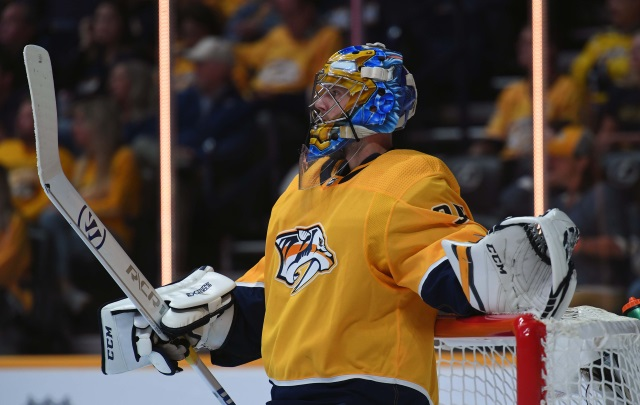Pekka Rinne returns to practice and is eligible to be activated from the IR.