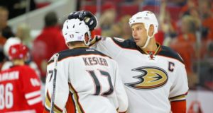 The Anaheim Ducks get Ryan Kesler back but Ryan Getzlaf out with groin injury.