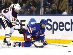 The Edmonton Oilers have traded forward Ryan Strome to the New York Rangers for Ryan Spooner.