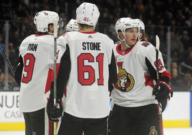 No talks yet between the Ottawa Senators and Mark Stone but they are talking with Matt Duchene.