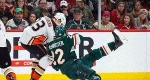 Anaheim Ducks Jakob Silfverberg and Minnesota Wild Nino Niederreiter