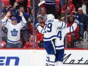 Toronto Maple Leafs forward William Nylander and Auston Matthews
