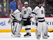 The Los Angeles Kings now without two goaltenders - Jack Campbell and Jonathan Quick.