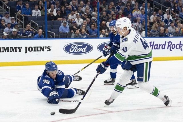 Elias Pettersson is the NHL's top rookie so far this season