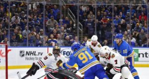 Vladmir Tarasenko and Brent Seabrook