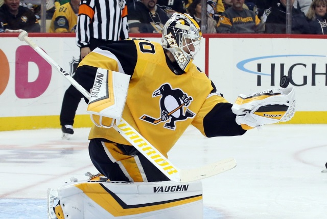 The Pittsburgh Penguins put Matt Murray on the IR.