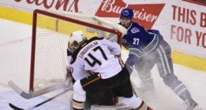 Anaheim Ducks defenseman Hampus Lindholm out with a lower-body injury.