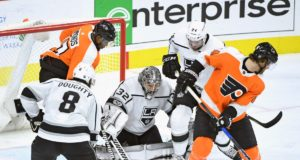 The Philadelphia Flyers have spoken with the Los Angeles Kings about Jonathan Quick.