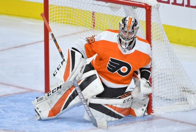 If Carter Hart gets into a game, he'll be the sixth goalie used by the Philadelphia Flyers this season.