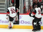 Arizona Coyotes Antti Raanta could be done for the season.
