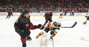 Anaheim Ducks and the Carolina Hurricanes