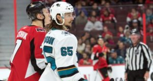 No serious talks between the San Jose Sharks and Erik Karlsson yet.