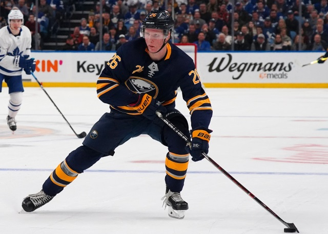 More NHL games postponed. Rasmus Dahlin one of 24 Sabres, Devils to have entered the NHL's COVID Protocol. Penguins GM search continues.
