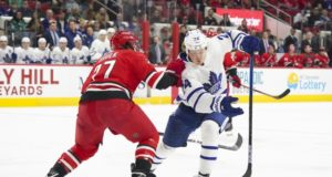 The Carolina Hurricanes have talked internally about Toronto Maple Leafs Kasperi Kapanen.