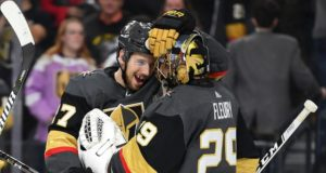 Marc-Andre Fleury climbing the all-time NHL wins list,