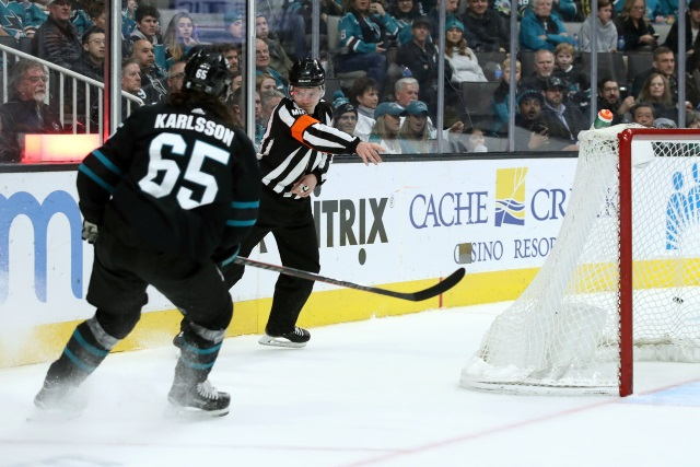 The NHL has suspended Erik Karlsson for two games.