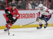 Thomas Chabot leaves with an upper-body injury.