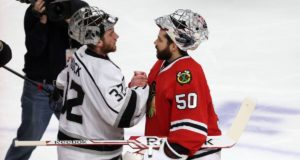 Would the Los Angeles Kings consider moving Jonathan Quick? Would the Chicago Blackhawks consider moving Corey Crawford?