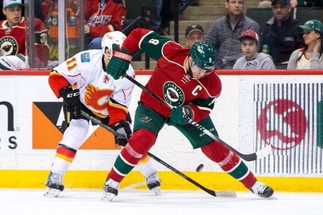 Mikko Koivu headed back to Minnesota. Mikael Backlund out this weekend.