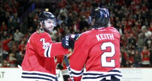 Duncan Keith and Brent Seabrook will play in their 1,000th game as teammates tonight.