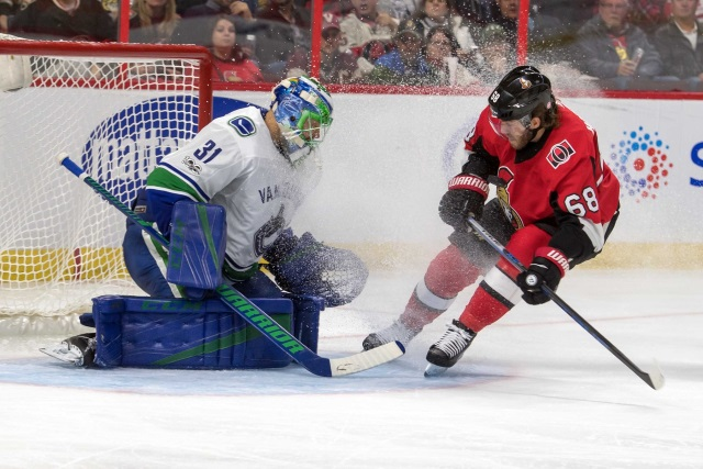 The Vancouver Canucks have traded goaltender Anders Nilsson and forward Darren Archibald to the Ottawa Senators for goaltender Mike McKenna, forward Tom Pyatt and a 2019 6th round pick.
