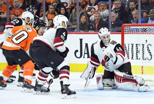 The Philadelphia Flyers have traded Jordan Weal to the Arizona Coyotes for Jacob Graves.