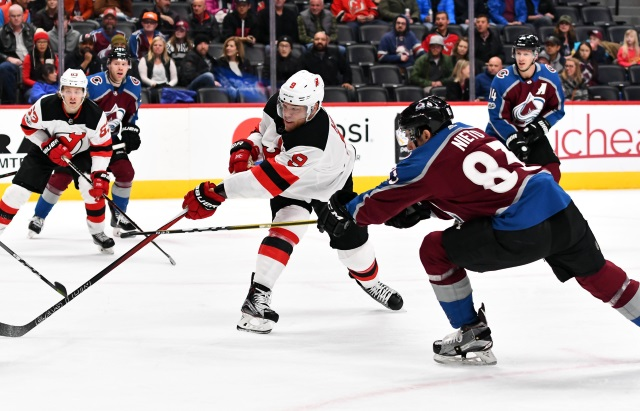 The Colorado Avalanche could use some secondary scoring. The New Jersey Devils will have lots of decisions to make regarding free agents.