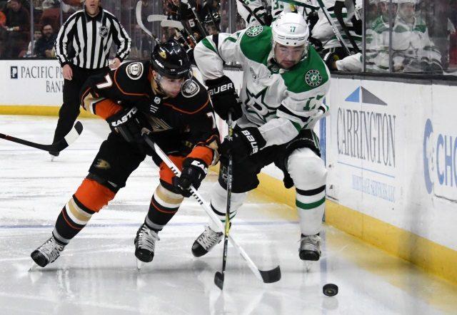 The Anaheim Ducks traded Andrew Cogliano to the Dallas Stars for Devin Shore.