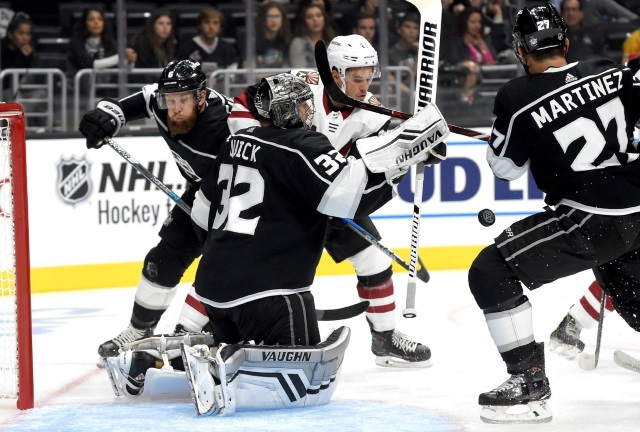 The Los Angeles Kings have just only begun making moves. Alec Martinez could be gone at the deadline. Jonathan Quick may be more of an offseason if they go down that road.