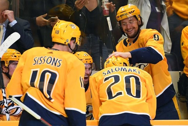 Nashville Predators Filip Forsberg off the IR and Miikka Salomaki to the IR.