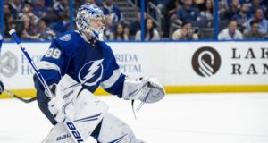 Tampa Bay Lightning goaltender Andrei Vasilevskiy has one of the best value contract for goaltender that was signed while he was a restricted free agent.