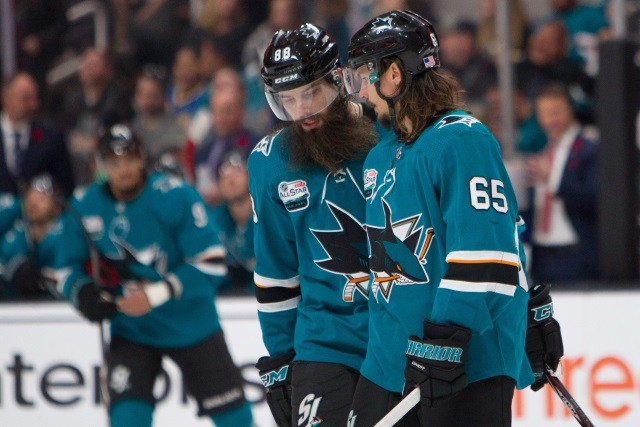 The San Jose Sharks have a group of veterans on big contracts. They are just out of a playoff spot. Their offensive and defensive numbers in the bottom third.
