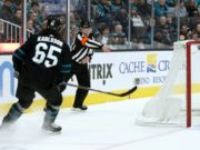San Jose Sharks defenseman Erik Karlsson misses last night's game.