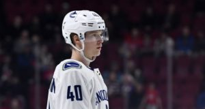 Elias Pettersson said he's feeling better and awaiting an MRI.