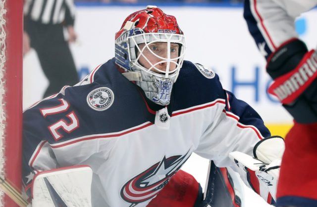 Sergei Bobrovsky didn't dress for the Columbus Blue Jackets last night. Are his days in Columbus numbered?